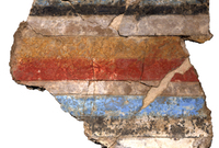 Piece of a wall painting from Tell el-Daba.