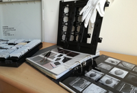 Equipment to re-organize analogue photo-documentation in the OREA archive.