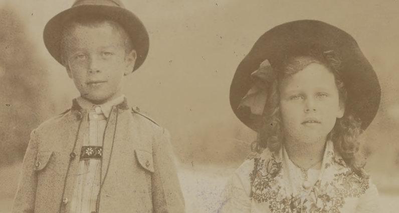Zwei der Kinder von Felix Salten, aus einem Brief von Salten an Schnitzler, Cambridge University Librar