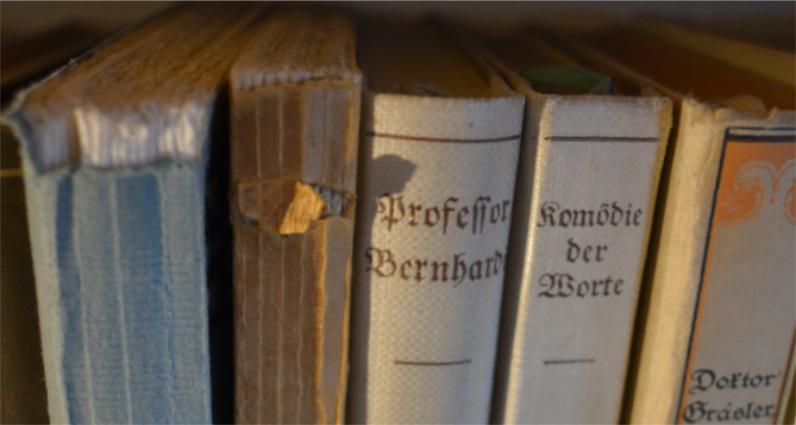 Nahaufnahme von Buchrücken